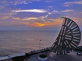 海ほたるから日没の風景