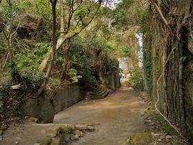 金谷下山口付近の通路