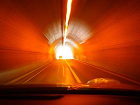 国道462号神流湖付近のトンネル