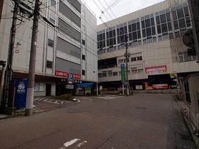 長岡駅前の駐車場