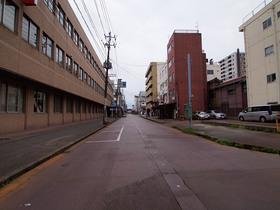 長岡市内の日曜日の風景