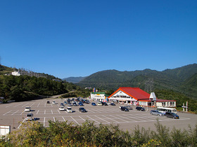 奥只見湖の駐車場