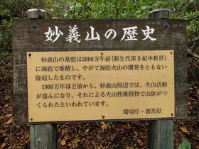 妙義山の歴史 案内板