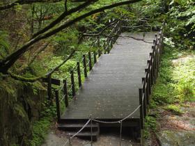 三重の滝の滝見台