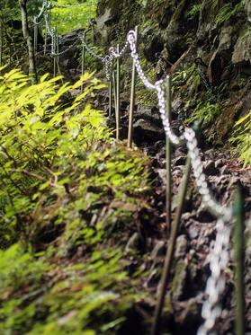 急登の岩場