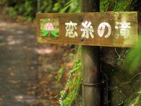 恋糸の滝地点