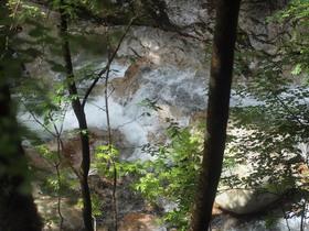 恋糸の滝地点から見下ろした渓谷