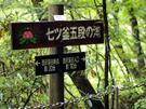 七ツ釜五段の滝の地点