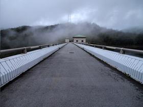 誰も居ない琴川ダム