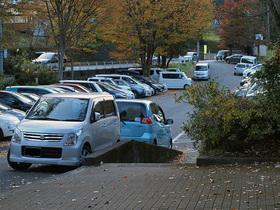 午後の寒山寺駐車場(混雑)