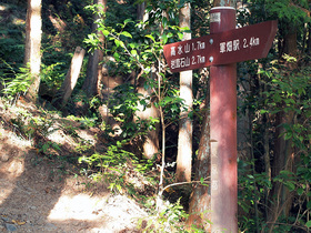 高水山まで1.7Kmの道標