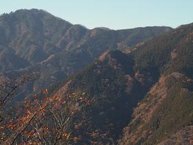 武甲山側の稜線