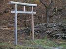 浅間神社側登山口の鳥居