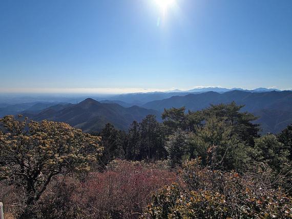 日の出山からの眺望