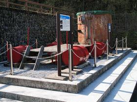 ドラム缶浮橋の構造展示物