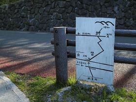 三峰神社第二駐車場から登山口までの経路図