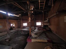 白岩小屋の内部の様子