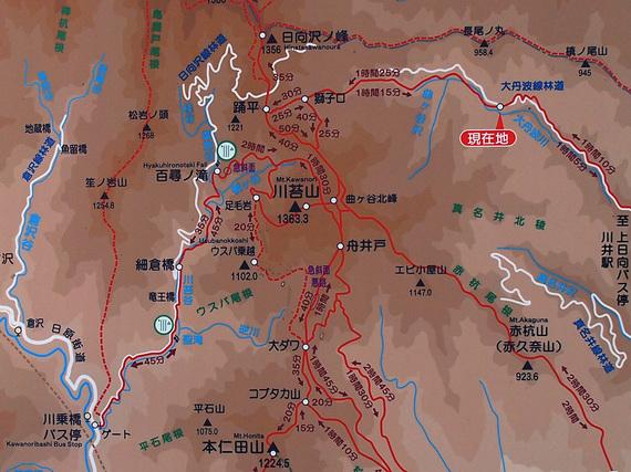 川苔山周辺マップ