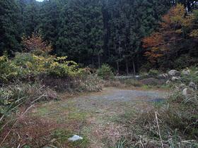 林道脇の大きな敷地