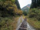 林道大丹波線の路肩スペース1