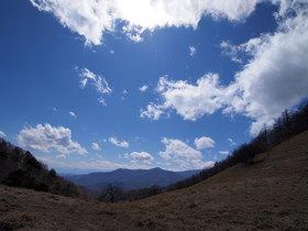 雁峠から林道方面