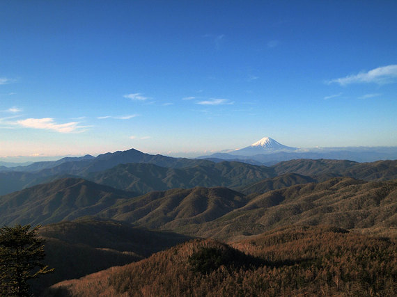 早朝の笠取山からの眺望