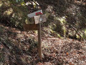 鷹ノ巣山のまき道から石尾根方面の分岐地点