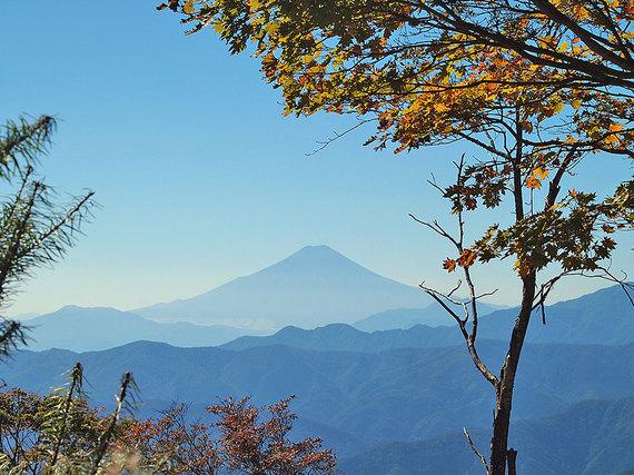 鷹ノ巣山山頂直下の草原からの展望1