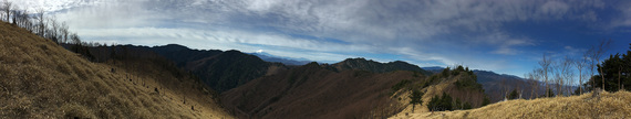 東仙波山頂からの展望(パノラマ写真)