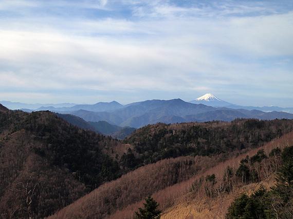 登山道より富士山の眺望