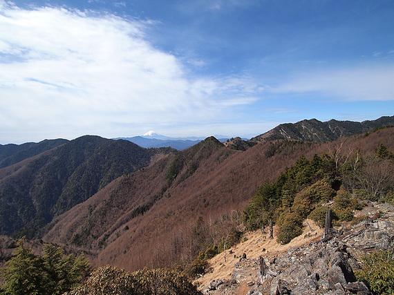 東仙波手前の岩場からの眺望(南西側)