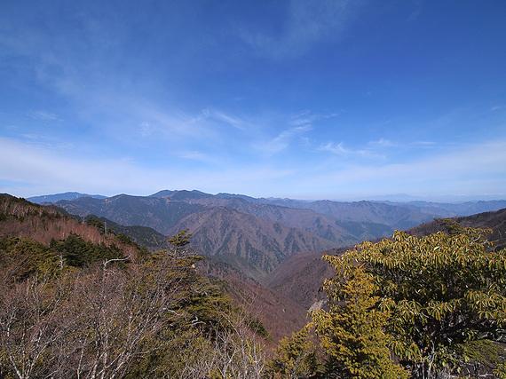 東仙波手前の岩場からの眺望(北西側)