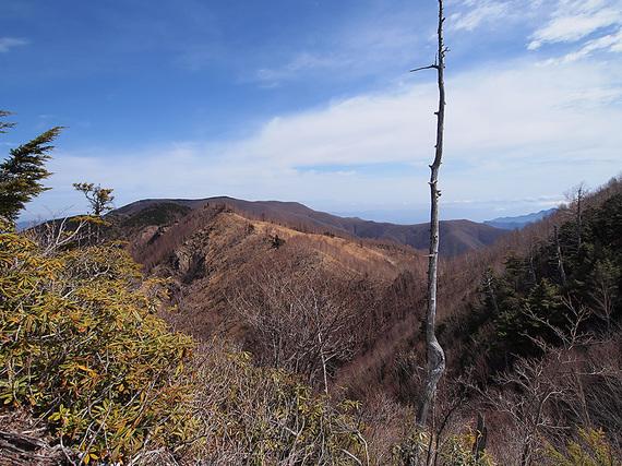東仙波手前の岩場からの眺望(北側)