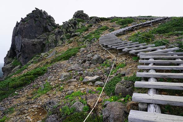 竜王岩の木道階段