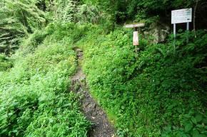 林道御岳線の登山口