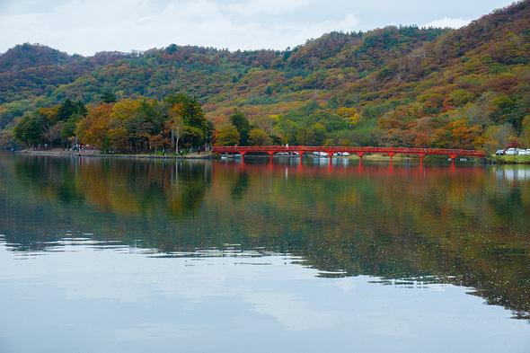 大沼と啄木鳥橋(きつつきばし)