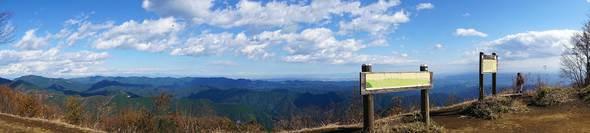棒ノ折山 山頂パノラマ写真