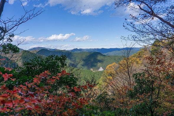 滝ノ平尾根からの展望