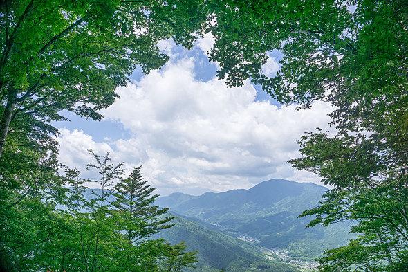 鳥ノ胸山からの展望