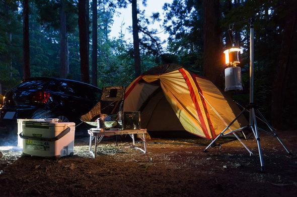夕方のテントサイト