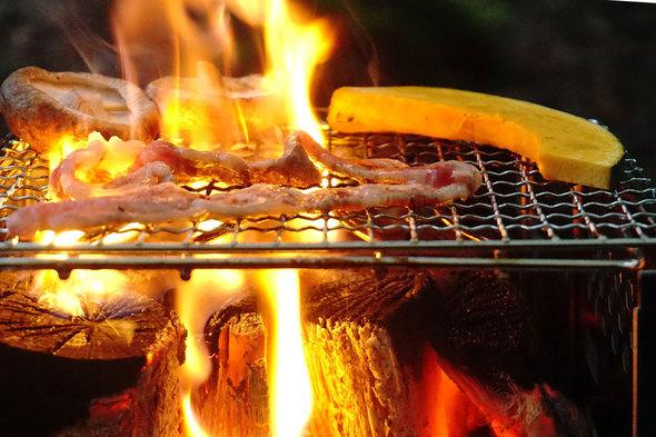 BBQグリルで焼肉!