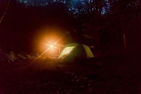 一の瀬高原キャンプ場 19時の様子