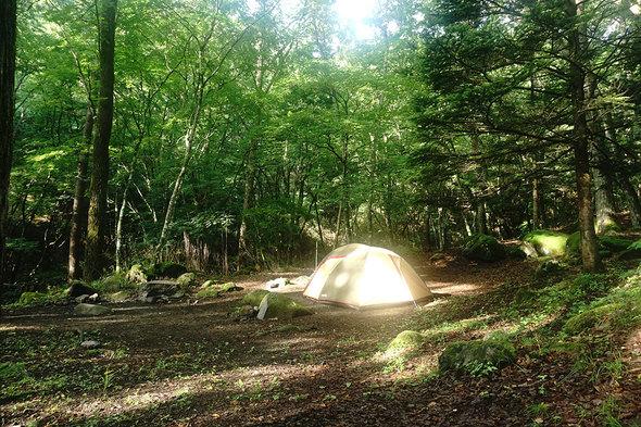 一の瀬高原キャンプ場 6時40分の様子