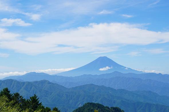 ハンゼノ頭から富士山の眺め