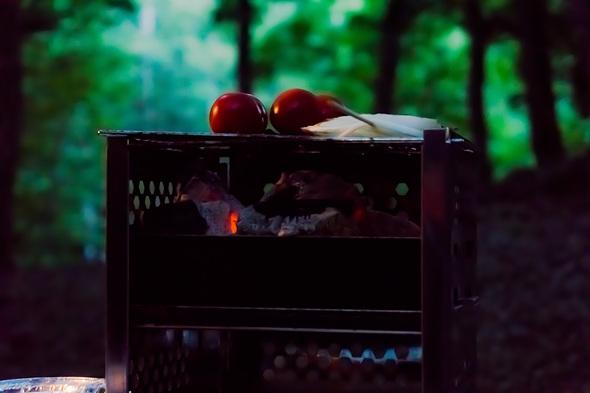 炭火焼きトマト!