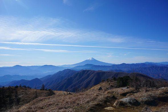 白谷ノ丸 山頂から望む富士山