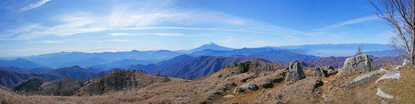 白谷ノ丸からの大展望パノラマ写真
