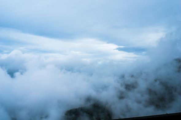 山梨県道201号、上日川峠付近からの眺望