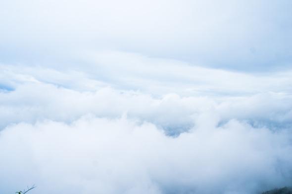 山梨県道201号から雲海の展望