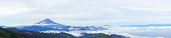 標高2000M地点のパノラマ写真